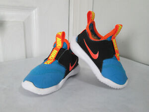 Nike Flex Runner Laser Blue Hyper Crimson Black Baby / Toddler 4C AT4665-405