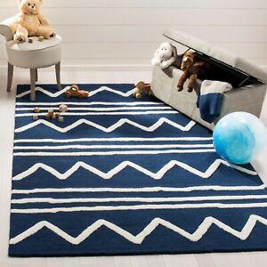 Samra Modern Hand-Tufted 100% Wool Soft Area Rug Carpet.