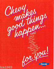 1981 Chevy Brochure:CAMARO,CORVETTE,MALIBU,IMPALA,MONTE CARLO,CITATION,EL CAMINO