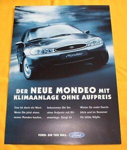 Ford Mondeo Klimaanlage 1997 Prospekt Brochure Catalogue Depliant