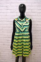 Vestito CUSTO BARCELONA Donna Taglia 3 (S) Abito Dress Tubino Woman Cotone Righe