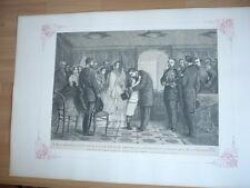 L'IMPERATRICE EUGENIE ET LE PRINCE IMPERAIL PRENNENT CONGE DE L'EMPEREUR 1866