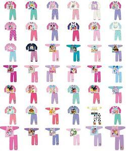 Girls pyjamas toddler baby character long sleeve pyjamas nightwear