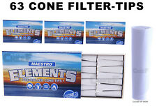 Elements MAESTRO CONE Tips (63 FILTER TIPS) for Rolling Papers - Free Shipping