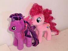 TY My Little Pony Lot TWILIGHT SPARKLE & PINKIE PIE Plush Unicorn VTG Toy MLP