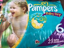 Vintage Pampers Size 6 Diapers From 09-12 23ct