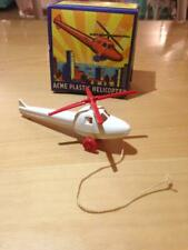 Vintage ACME Plastic Helicopter Toy with Original Box - White- 1950's