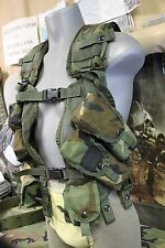 WOODLAND CAMO LOAD BEARING VEST 3 DBL 1 SNG MAG POUCH 2 GRENADE POCKETS LITE US