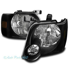 FOR 06-10 FORD EXPLORER/07+ SPORT TRAC REPLACEMENT HEADLIGHT HEADLAMP LAMP BLACK