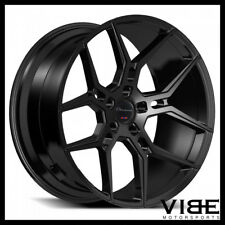 "22"" GIOVANNA HALEB GLOSS BLACK CONCAVE WHEELS RIMS FITS BENZ X164 GL450 GL550"