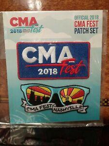 2018 CMA Music Festival Fan Fair Patch Badge Set Nashville Broadway Rare HTF!!