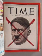 Time Magazine - BOUND VOLUME April-June, 1945 ~~ Hitler Red X, end WWII