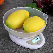 5kg to1g Small Digital Kitchen Scale Electronic Diet Bake Food Scales With Bowl
