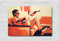 Steve McQueen Art Portrait Oil Painting Hand-Painted on Canvas Not a Print 36x48