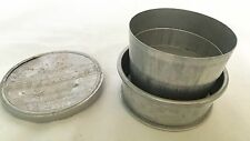 Vintage Aluminum Collapsible Camping, Hiking Cup, Canoe Men On Top