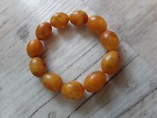 Bernsteinarmband Baltic Amber Bracelet Butterscotch Olives 19 mm