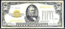 1928 $50 Gold Certificate - A block