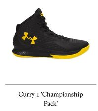 Under Armour Curry 1 ' Championship Pack' Size 7.5