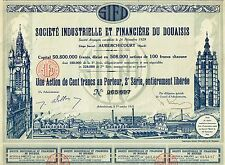 FRANCE INDUSTRIAL FINANCE COMPANY OF DOUAISIS stock certificate 1931
