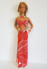 """Fits SuperSize Barbie 18"""" Doll CLOTHES Tropical Fashion & Jewelry HM NO DOLL d4e"""