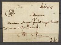 1780 Lettre Marque Manuscrite hieres Lenain 1a + TOULON VAR Superbe X3518