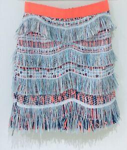 sass and Bide Fringe Benefit Skirt Sz8