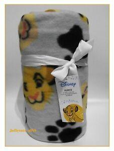 Disney The Lion King Fleece Blanket Grey Adorable Boys Girls Character Gift BNWT