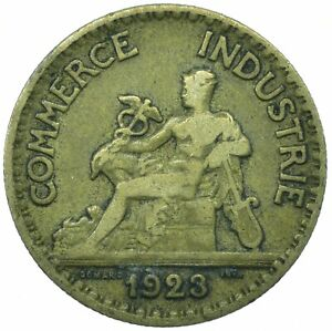 COIN / FRANCE / 50 CENTIMES 1923 COMMERCE INDUSTRIE   #WT19765