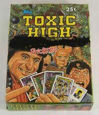 1991 TOPPS TOXIC HIGH SCHOOL STICKERS BOX (48 packs)