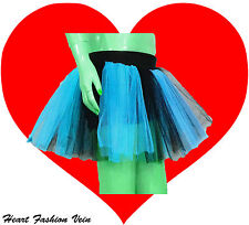 Blue Black tone tutu skirt Adult Costumes Fairy Butterfly Dance Party Halloween