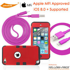 OEM Original Apple iPod Touch 5 5th Lightning USB Data Cable+Protectiv Case+Film
