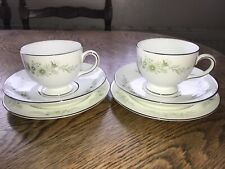 Wedgwood Westbury R4418 Pair Of Tea Trios, Plates Cups And Saucers
