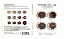 ANASTASIA BEVERLY HILLS Dipbrow Pomade DEEP BROWN 4 Shade Sample NEW FREE SHIP