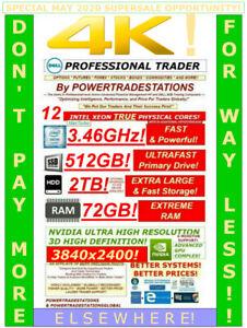 DELL Trading Computer 6Monitor XeonMaxTurbo3.46GHz 512GBSSD 2TBHDD 72GBRAM W10P!