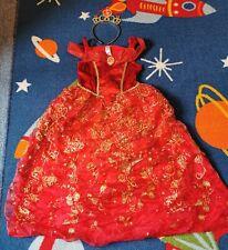 Girls Disney Beauty And The Beast Fancy Dress Costume Belle Age 5-6