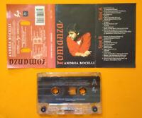 MC Musicassetta k7 ANDREA BOCELLI Romanza pop ballad italy 1996 no cd lp vhs°dvd