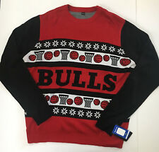 Chicago Bulls Red Sweater Mens 2XL, XXL Ugly Christmas