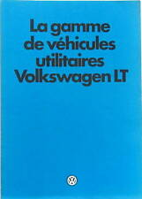 1980 VOLKSWAGEN LT  CATALOGUE  FOURGON COMBI CAMPING CAR AMBULANCE INCENDIE