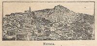 A0234 Nicosia - Veduta - Stampa Antica del 1907 - Xilografia
