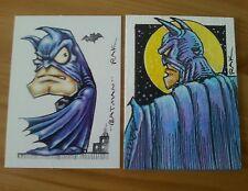 BATMAN HAND DRAWN COLOUR SKETCH ART TRADING CARD BY RAK DC COMICS ACEO PSC