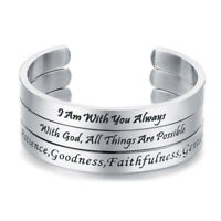 Fruit of the Spirit Bangle for Women Men Stainless Steel Faith Christ Christian