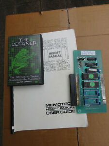Memotech MTX ROM extension board with Pascal ROMS, manual + The Designer program