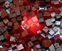 Roter Rubin Edelstein Raues Los Afrikanische 60 Karat Natürliche Würfelform