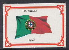 Monty Gum 1980 Flags Cards - Card No 71 - Angola (T664)