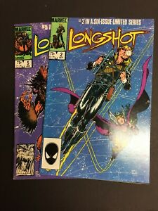 Longshot #2 & #5  1985 VF/NM  Lot of 2 High Grade Marvel Comics