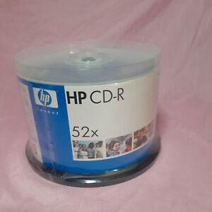 HP CD CD-R 50 Pk  52X 80MIN 700MB Blank NEW SEALED * Burn cds!! Mixtape