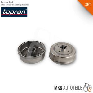 2x TOPRAN Bremstrommel SET/Satz hinten rechts und links für AUDI SEAT VW