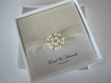 Luxury Handmade Boxed Square Folding 'Hannah' Wedding Invitation SAMPLE