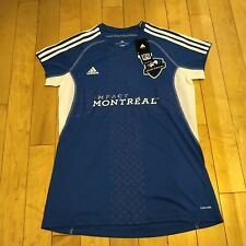 MLS Soccer Montreal Impact Women's Ladies Call Up Jersey L Blue Adidas NWT