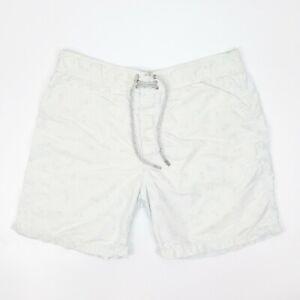 VILEBREQUIN Men's Light Blue Paisley Shorts - Size XL - Fair Condition